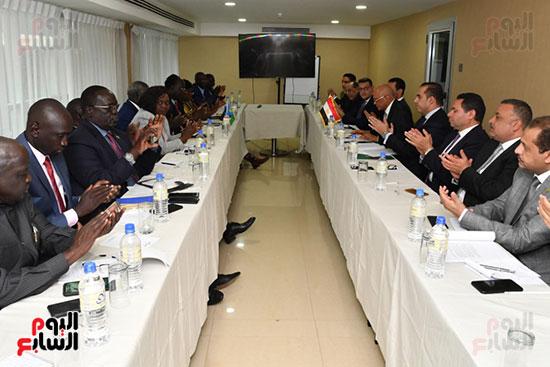 عبد العال يلتقى رئيس المجلس التشريعى الانتقالى بالإنابة بجنوب السودان (10)