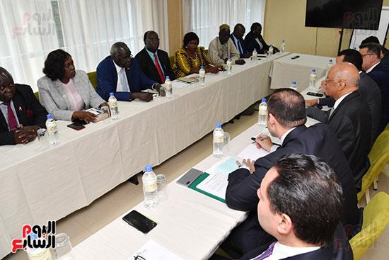عبد العال يلتقى رئيس المجلس التشريعى الانتقالى بالإنابة بجنوب السودان (3)