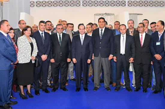 السيسي في افتتاح مدينة دمياط للأثاث ومشروعات قومية (5)