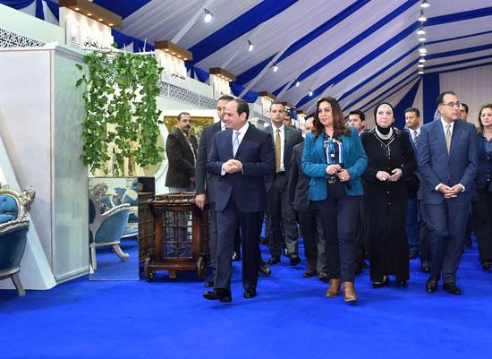 السيسي في افتتاح مدينة دمياط للأثاث ومشروعات قومية (12)
