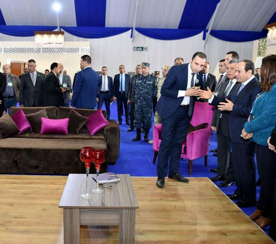 السيسي في افتتاح مدينة دمياط للأثاث ومشروعات قومية (11)