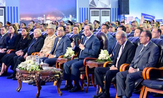 السيسي في افتتاح مدينة دمياط للأثاث ومشروعات قومية (1)