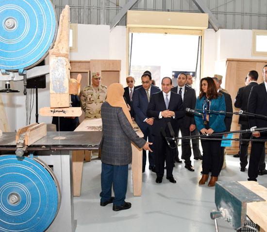 السيسي في افتتاح مدينة دمياط للأثاث ومشروعات قومية (9)