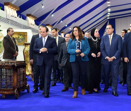 السيسي في افتتاح مدينة دمياط للأثاث ومشروعات قومية (10)