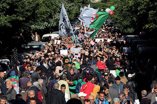 مسيرة حاشدة فى العاصمة الجزائر