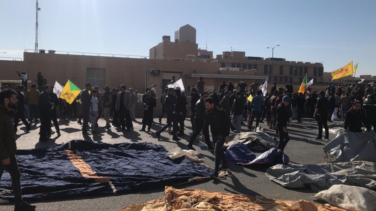 فوضي فى محيط السفارة الأمريكية فى العراق