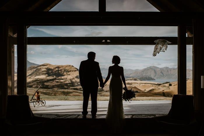 صورة عروسين من نيوزيلندا