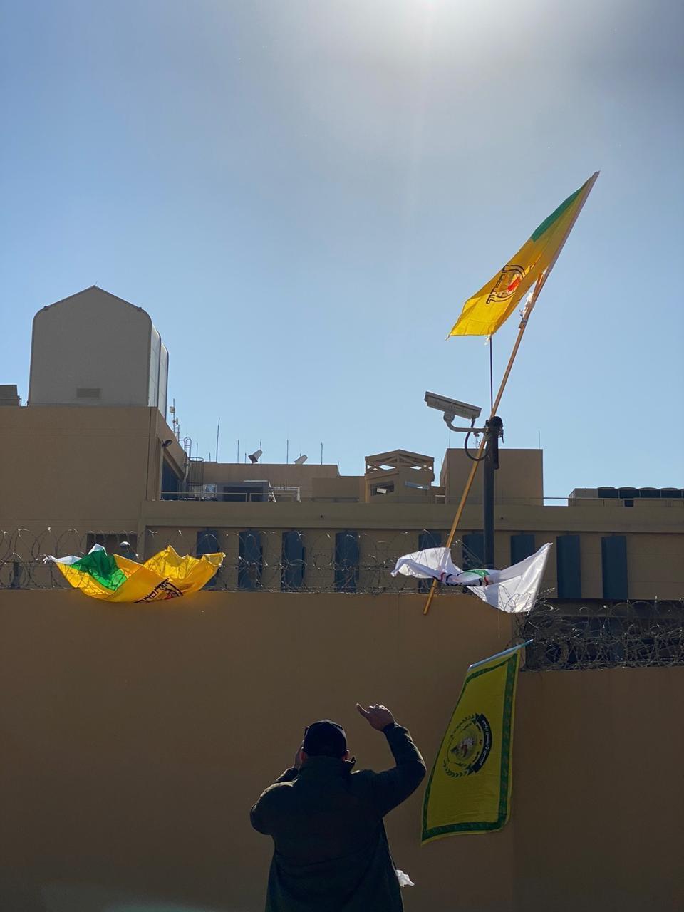 عناصر حزب الله العراقي بمحيط السفارة