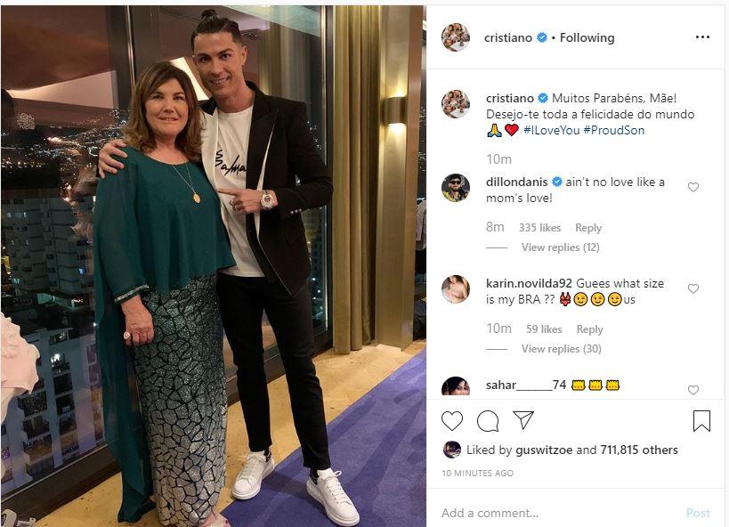 رونالدو يهنئ والدته بالعام الجديد 2020