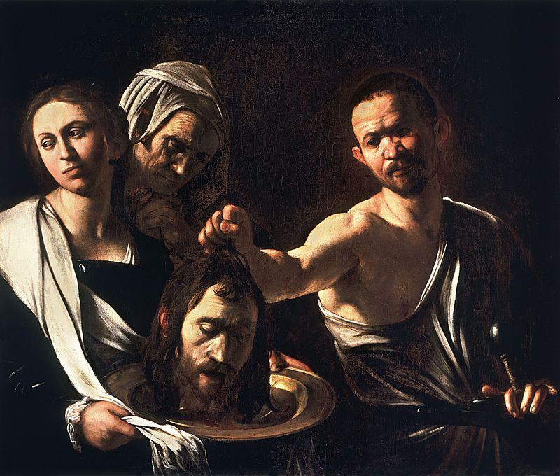 سالومى ورأس  يوحنا كارافجيو
