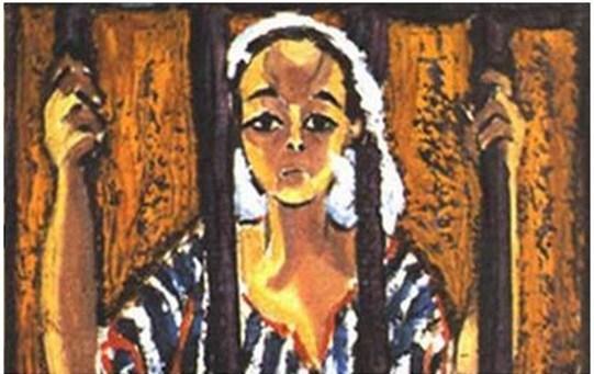 إحدى لوحات إنجى أفلاطون (4)