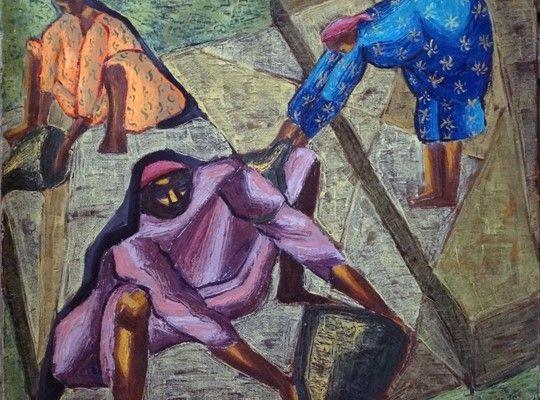إحدى لوحات إنجى أفلاطون (5)