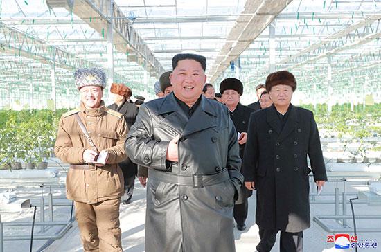 زعيم كوريا الشمالية خلال الزيارة