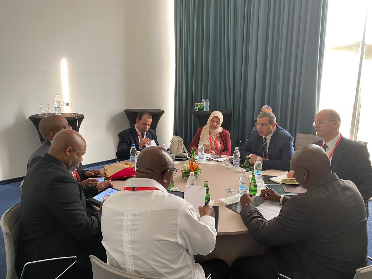 وزير القوى العاملة يبحث مع 3 وزراء عمل أفارقة التعاون فى مجالات العمل والتدريب والحوسبة (13)