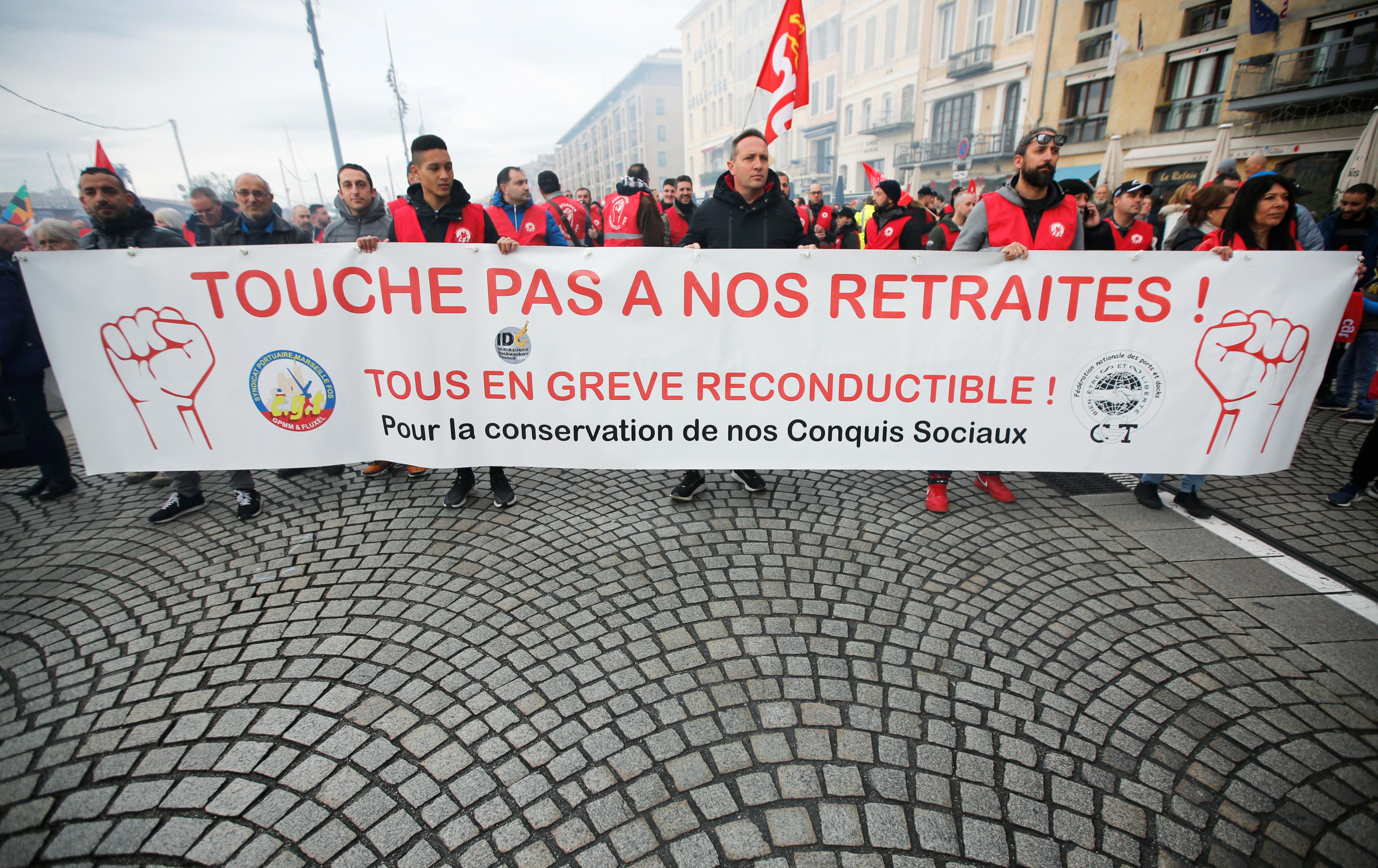 جانب من مظاهرات فرنسا