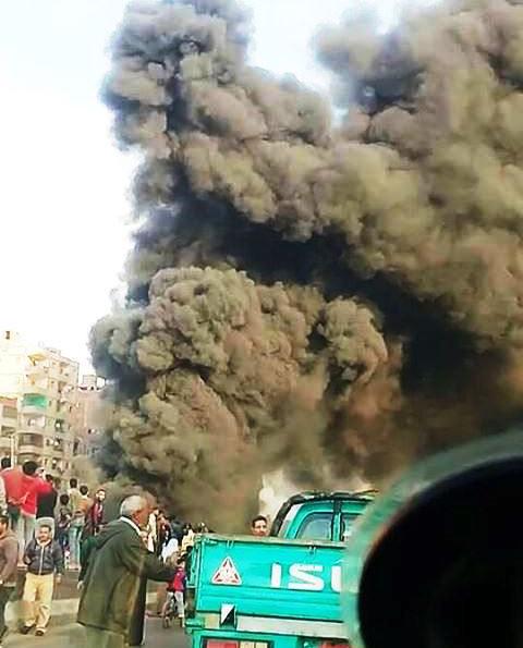 حريق الطريق الدائرى بالخصوص (2)
