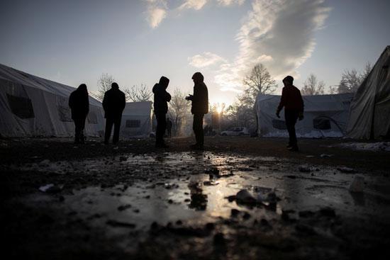 مخيم مهاجرين من البوسنة