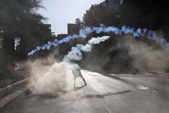 الغاز يهيمن على الشارع فى تشيلى
