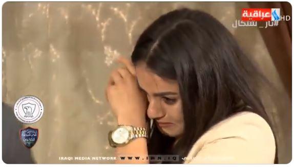أشواق حجى تبكى أثناء مواجهة مغتصبها الداعشى