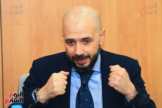 الدكتور خالد الطوخى رئيس مجلس أمناء جامعة مصر للعلوم والتكنولوجيا خلال ندوة اليوم السابع  (9)