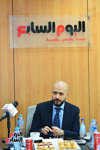 الدكتور خالد الطوخى رئيس مجلس أمناء جامعة مصر للعلوم والتكنولوجيا خلال ندوة اليوم السابع  (5)