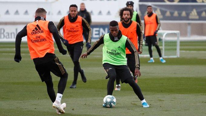 جانب من تدريبات ريال مدريد