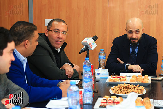 الدكتور خالد الطوخى رئيس مجلس أمناء جامعة مصر للعلوم والتكنولوجيا خلال ندوة اليوم السابع  (3)