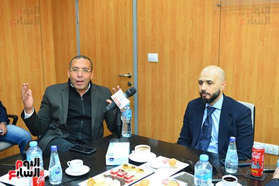 الدكتور خالد الطوخى رئيس مجلس أمناء جامعة مصر للعلوم والتكنولوجيا خلال ندوة اليوم السابع  (2)