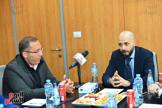 الدكتور خالد الطوخى رئيس مجلس أمناء جامعة مصر للعلوم والتكنولوجيا خلال ندوة اليوم السابع  (1)