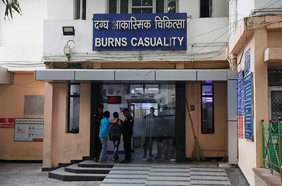 المستشفى التى كانت تعالج فيها الضحية