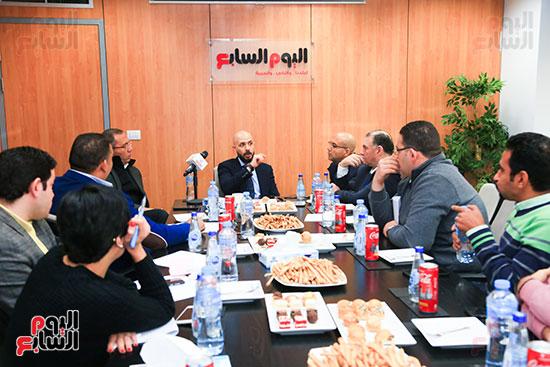 الدكتور خالد الطوخى رئيس مجلس أمناء جامعة مصر للعلوم والتكنولوجيا خلال ندوة اليوم السابع  (8)