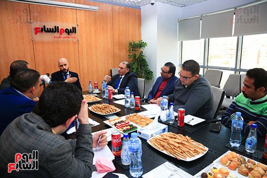 الدكتور خالد الطوخى رئيس مجلس أمناء جامعة مصر للعلوم والتكنولوجيا خلال ندوة اليوم السابع  (10)