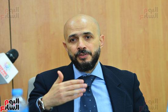 ندوة خالد الطوخى  رئيس مجلس أمناء جامعة مصر للعلوم والتكنولوجيا بجريدة اليوم السابع  (7)