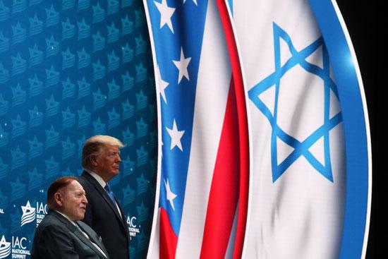 ترامب فى قمة المجلس الأمريكى الإسرائيلى
