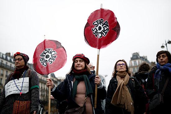 متظاهرون ضد تغير المناخ فى فرنسا