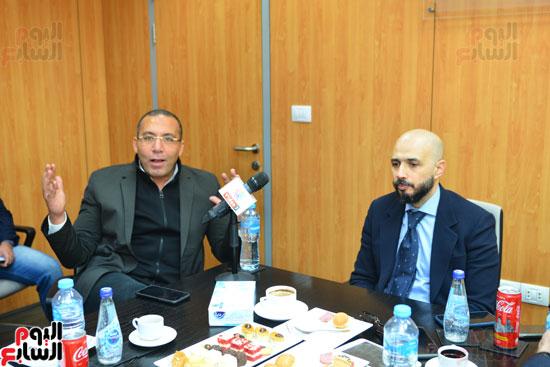 ندوة خالد الطوخى  رئيس مجلس أمناء جامعة مصر للعلوم والتكنولوجيا بجريدة اليوم السابع  (2)