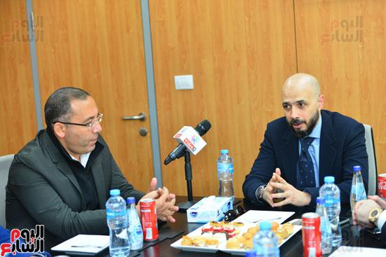 ندوة خالد الطوخى  رئيس مجلس أمناء جامعة مصر للعلوم والتكنولوجيا بجريدة اليوم السابع  (1)
