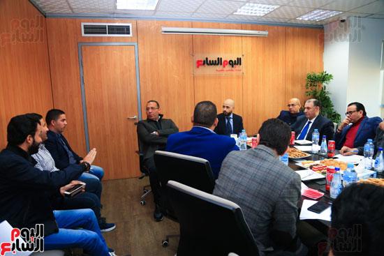 ندوة خالد الطوخى  رئيس مجلس أمناء جامعة مصر للعلوم والتكنولوجيا بجريدة اليوم السابع  (12)
