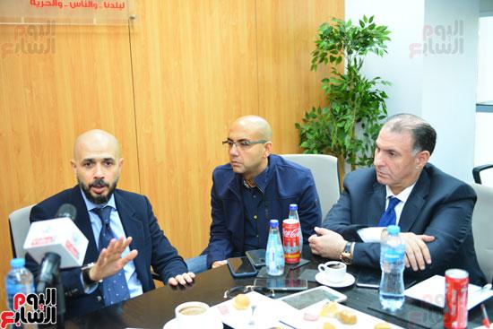 ندوة خالد الطوخى  رئيس مجلس أمناء جامعة مصر للعلوم والتكنولوجيا بجريدة اليوم السابع  (4)