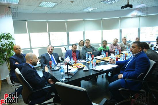 ندوة خالد الطوخى  رئيس مجلس أمناء جامعة مصر للعلوم والتكنولوجيا بجريدة اليوم السابع  (14)