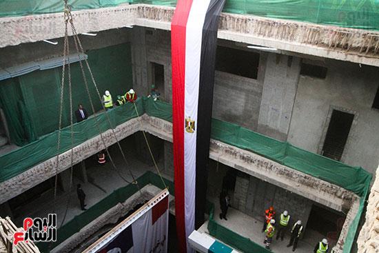 رئيس الوزراء يشهد دخول ماكينة الحفر العميق لمحطة ماسبيرو (12)