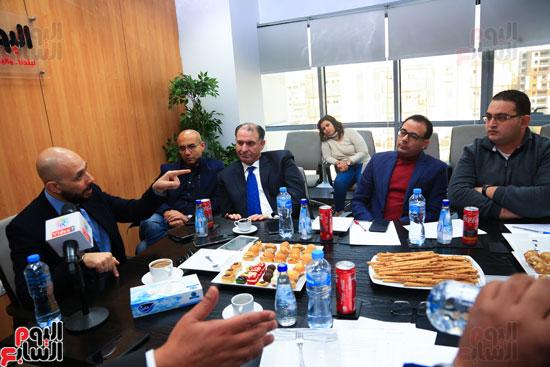 ندوة خالد الطوخى  رئيس مجلس أمناء جامعة مصر للعلوم والتكنولوجيا بجريدة اليوم السابع  (18)