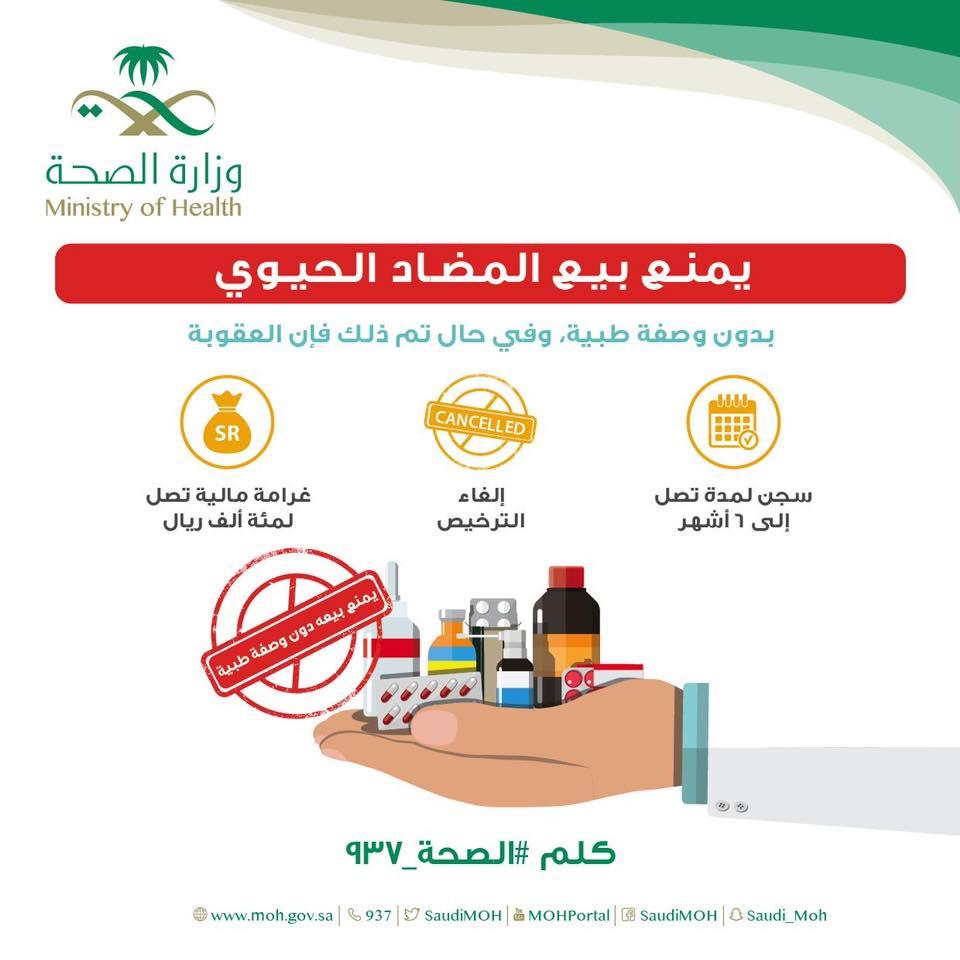 كيف واجهت الصحة السعودية تناول المضادات الحيوية العشوائى بعقوبات صارمة اليوم السابع