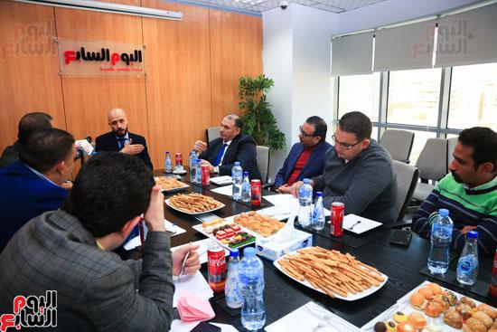 ندوة خالد الطوخى  رئيس مجلس أمناء جامعة مصر للعلوم والتكنولوجيا بجريدة اليوم السابع  (10)