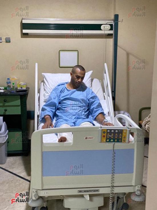 الشيف علاء الشربينى بعد خروجه من العمليات