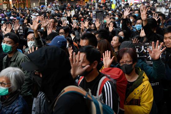 المحتجين