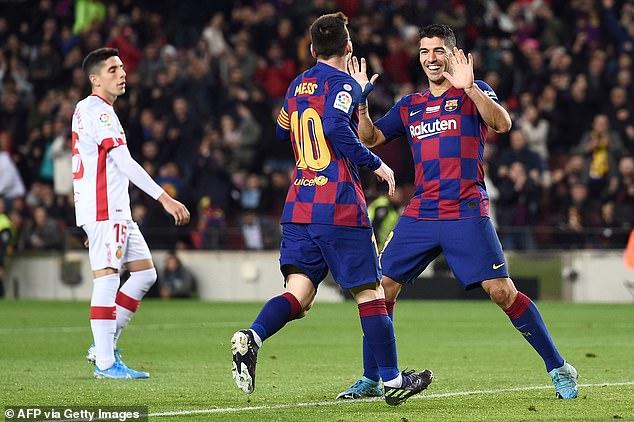 سواريز وميسي ثنائئ برشلونة