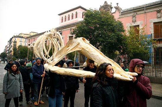 مظاهرة ضد تغير المناخ فى مدريد