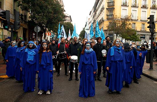 المظاهرات فى مدريد