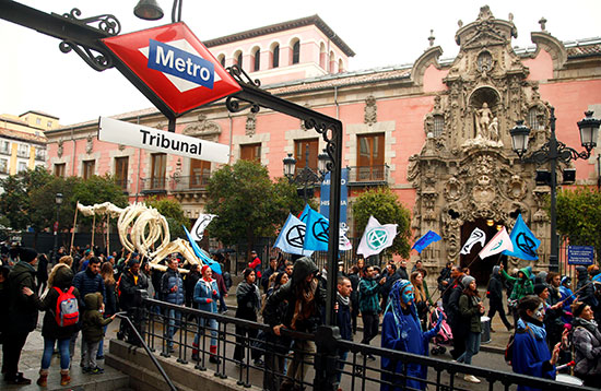 مظاهرة فى مدريد